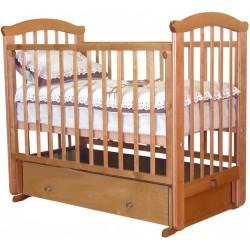 Кроватка для новорожденного Можга Ирина С-625 Красная звезда поперечный маятник + закрытый ящик