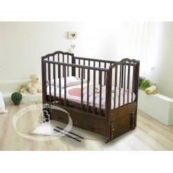 Кроватка для новорожденного Можга Ангелина С-676 Красная звезда продольный маятник + закрытый ящик