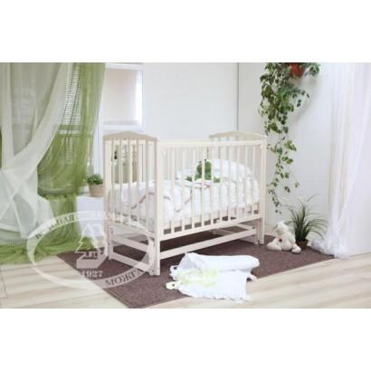 Детская кроватка для новорожденного Можга Кристина С-619 Красная звезда продольный маятник