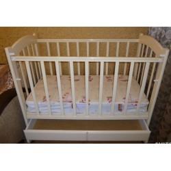 Детская кроватка для новорожденного Ведрусс Радуга-1 колёса + качалка + ящик