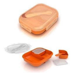 Контейнер c отделениями для хранения питания + крышки, ложка и подставка (от 6 мес.) SCF724/00 (Авент)