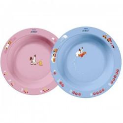 Набор из 2 тарелок (большая + малая) Avent SCF708/01 (Авент)