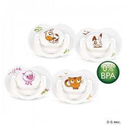 Набор из 2 пустышек силиконовых Avent Домашние животные BPA-Free (Авент)