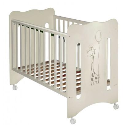Детская кроватка для новорожденного на колёсиках Laluca Руслана (Жирафик) Можгинский лесокомбинат