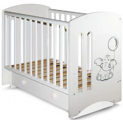 Детская кроватка Laluca Софи (Слоник) поперечный маятник с ящиком Можгинский лесокомбинат