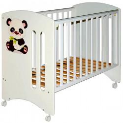 Детская кроватка для новорожденного на колёсах Laluca Софи (Кроха панда) Можгинский лесокомбинат