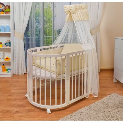 Детская круглая кроватка трансформер Incanto Gio 3 в 1