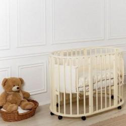Детская круглая кроватка для новорожденного трансформер Gio Incanto