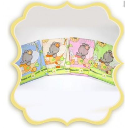 Комплект в детскую кроватку 3 предмета Bombus (Топтыжка) «Слоники»