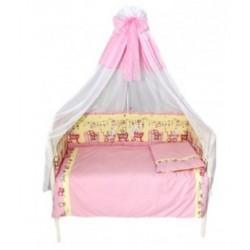 Комплект в детскую кроватку 7 предметов Bombus (Топтыжка) «Забавки»
