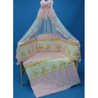 Комплект в детскую кроватку 7 предметов Bombus (Топтыжка) «Валюша»