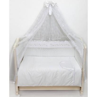Комплект в детскую кроватку 7 предметов Bombus (Топтыжка) «Мила»
