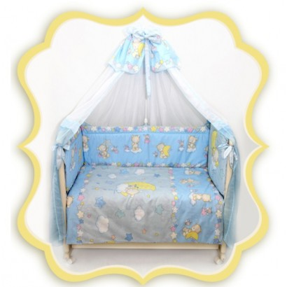 Комплект в детскую кроватку 8 предметов Bombus (Топтыжка) «Павлуша»