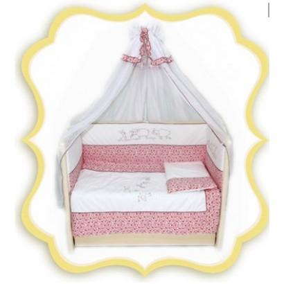 Комплект в детскую кроватку 7 предметов Bombus (Топтыжка) «Птичий дворик»