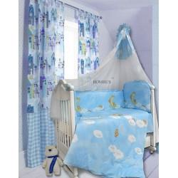 Комплект в детскую кроватку 7 предметов Bombus (Топтыжка) «Лунный мишка»