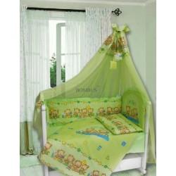 Комплект в детскую кроватку 7 предметов Bombus (Топтыжка) «Давай поиграем»