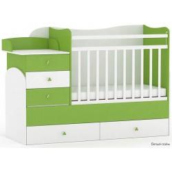 Детская комната Фея 3 предмета: кроватка трансформер 1400 + комод 1580 + шкаф двухсекционный