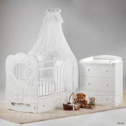 Набор для детской комнаты новорождённого Островок уюта Карета, 3 предмета
