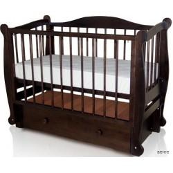 Детская кроватка Алиса Можгинский лесокомбинат продольный маятник с ящиком
