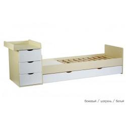 Детская кроватка-трансформер маятник СКВ-5 Жираф фрезеровка