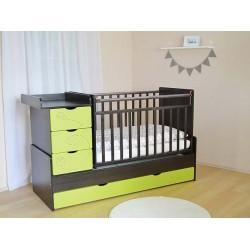 Детская кроватка трансформер с маятником СКВ-5 Бабочки фрезеровка