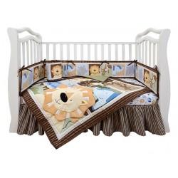 Комплект для детской кроватки новорождённого Giovanni Leo Jungle (серия Shapito)