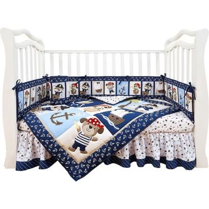 Комплект для детской кроватки из семи предметов Giovanni Piratic (серия Shapito)