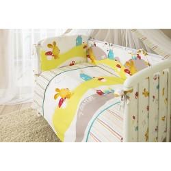 Комплект в детскую кроватку для новорождённого Perina Кроха из 4 предметов