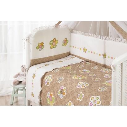 Комплект в детскую кроватку для новорождённого Perina Тиффани из 4 предметов