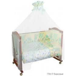 Набор для детской кроватки Сонный гномик Акварель из 7 предметов