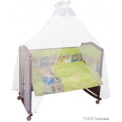 Комплект в кроватку для новорождённого Сонный гномик Лежебоки 7 предметов