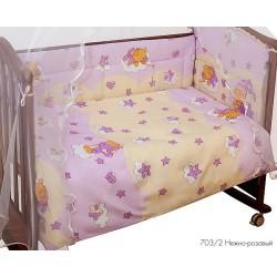 Комплект в детскую кроватку Сонный гномик Мишкин сон, 7 предметов