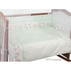Комплект в детскую кроватку из семи предметов Сонный гномик Оленята