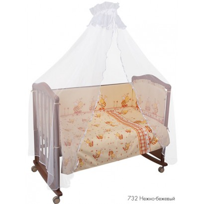 Комплект для детской кроватки 7 предметов Сонный гномик Пчёлки