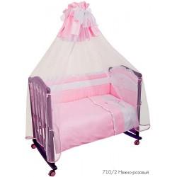 Комплект в детскую кроватку из сатина 7 предметов Сонный гномик Пушистик