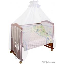 Комплект в кроватку для новорождённого 7 предметов Сонный гномик Считалочка