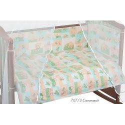 Комплект в кроватку для новорождённого 7 предметов Сонный гномик Топтыжки