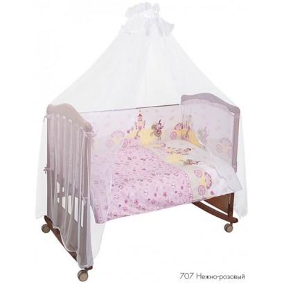 Комплект в детскую кроватку из 7 предметов Сонный гномик Золушка