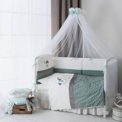 Комплект в кроватку детскую 6 предметов Perina Жила-была Лошадка