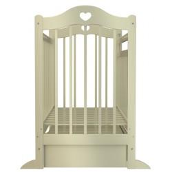 Детская кроватка для новорожденного с сердечками Briciola-12 поперечный маятник, с ящиком