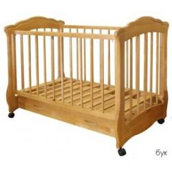 Детская кроватка для новорожденного колесо+ящик Каролина Можгинский лесокомбинат