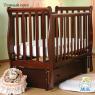 Детская кроватка Лель (Кубаньлесстрой) АБ 21.3 Лаванда с продольным маятником