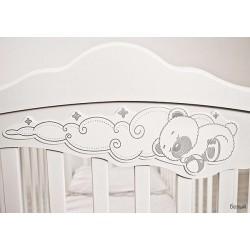 Детская кроватка для новорожденного маятник продольный и поперечный Angela Bella Изабель