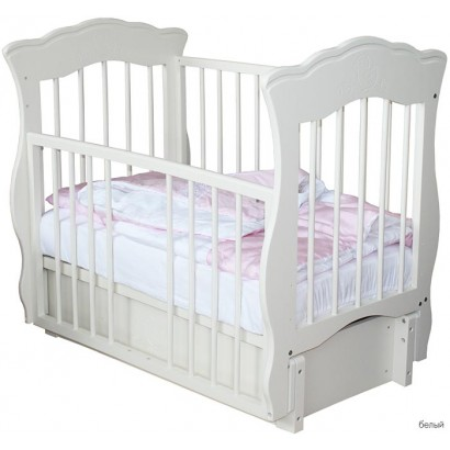 Детская кроватка Елизавета продольный маятник, с ящиком Можгинский лесокомбинат