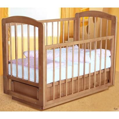 Детская кроватка для новорожденного Ксюша (поперечный маятник ящик) Можгинский лесокомбинат