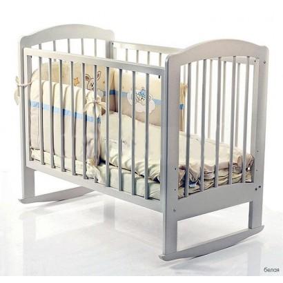 Детская кроватка для новорожденного на колёсиках Катя Можгинский лесокомбинат
