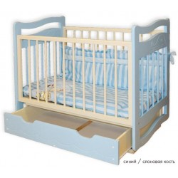 Детская кроватка с ящиком, поперечный маятник Кирилл (Дельфинчик) Можгинский лесокомбинат