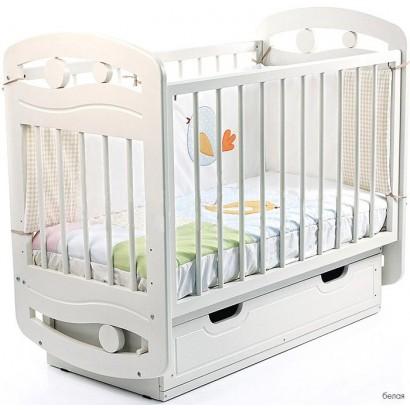 Детская кроватка поперечный маятник с ящиком Можгинский лесокомбинат Настенька