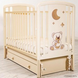 Детская кроватка для новорожденного с универсальным маятником Angela Bella Жаклин