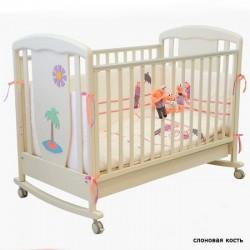 Детская кроватка для новорожденного-качалка 125x65 Papaloni Vitalia (Папалони)